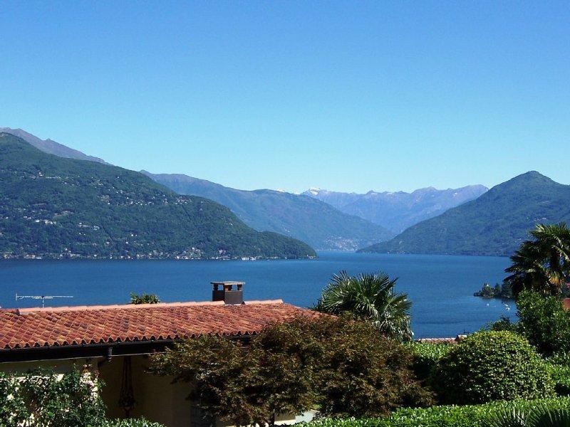 Top SEEBLICK Pool Strand Balkon 2 Zi. Fewo Belmonte Lago Maggiore WLAN Garage, alquiler de vacaciones en Lago Mayor