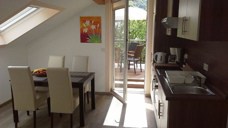 Comfortable apartment, plus a balcony with stunning river view, vacation rental in Enkirch