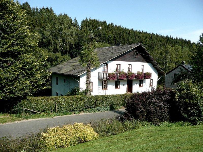Großer Garten, in den Bergen, auf dem Land, idyllische Lage, Haust. willkommen, holiday rental in Bleialf