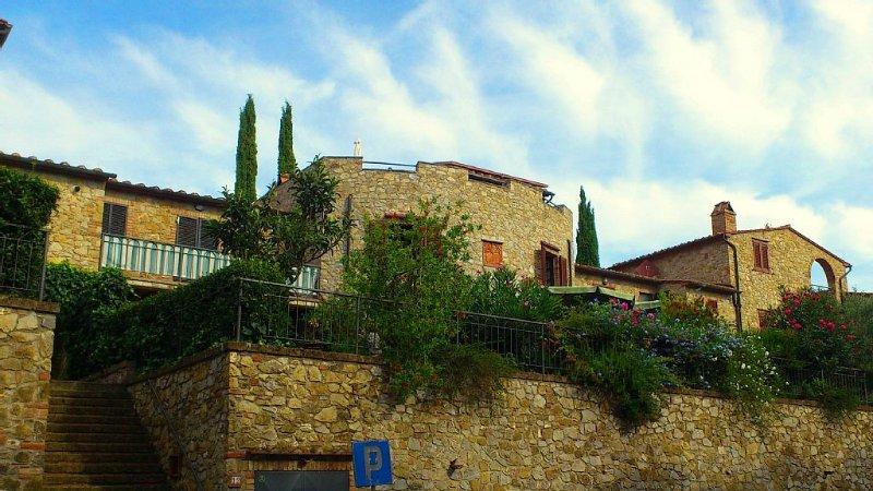 Casa la Torre, le bâtiment central de sept maisons toscanes rustiques