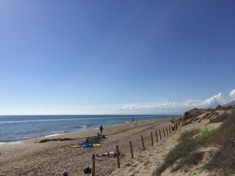 Der Strand direkt vor der Ferienwohnung