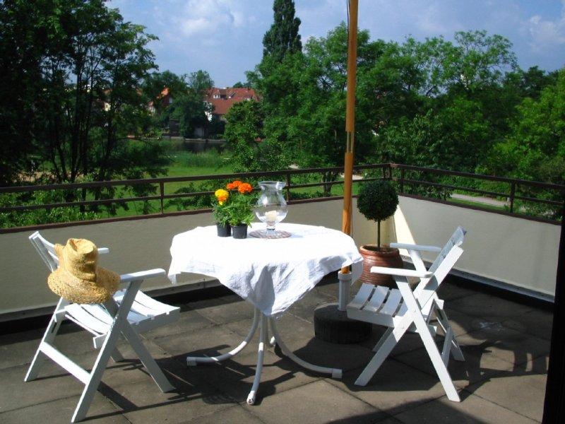 Zentral gelegene Penthousewohnung mit Blick auf Aller und Altstadt, casa vacanza a Steinhorst