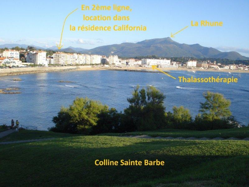 A 80m de la plage, tout proche du centre-ville, tout à pied, T2, 2-3 pers, location de vacances à Saint-Jean-de-Luz