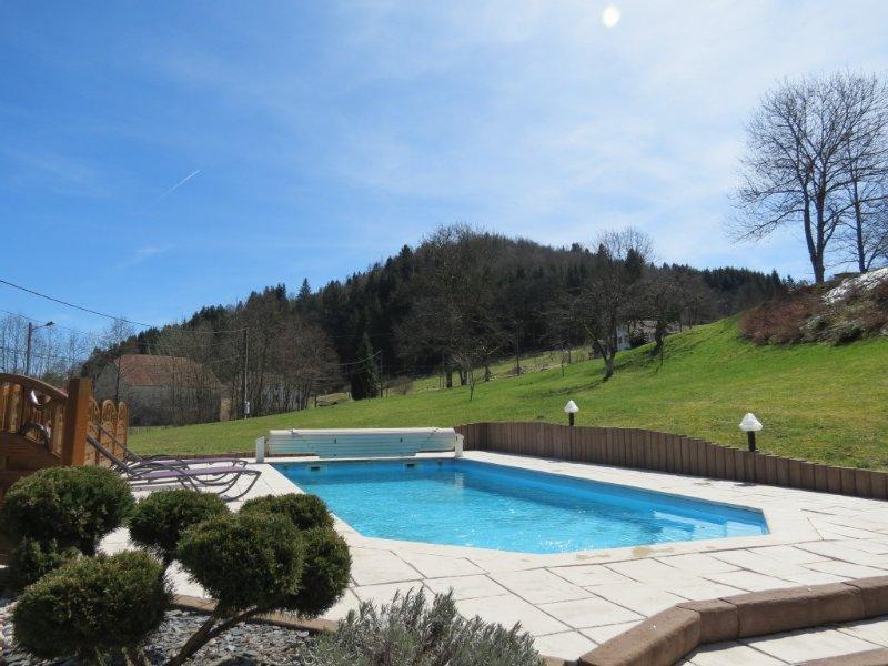 Chalet de charme calme avec sauna privé et piscine, holiday rental in Corravillers