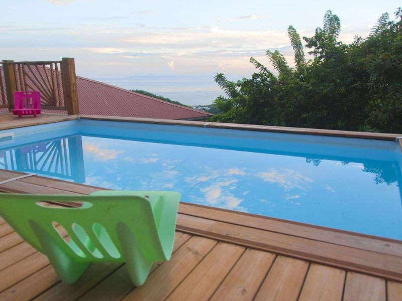 NEW New studio downstairs villa, sea view and poo, holiday rental in Sainte-Luce