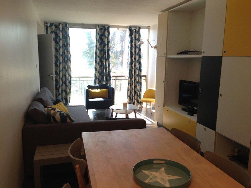 Appartement T2 bis avec parking privatif, aux pieds des pistes, refait à neuf., location de vacances à Matemale