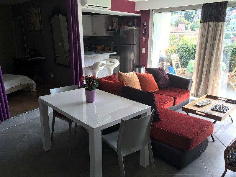 GRAND STUDIO PRÈS DE L'INSTITUT DE FRANCE,PARKING PRIVATIF,WIFI,TRES CALME ., location de vacances à Villefranche-sur-Mer