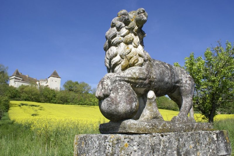 Goudourville et l'allée aux lions
