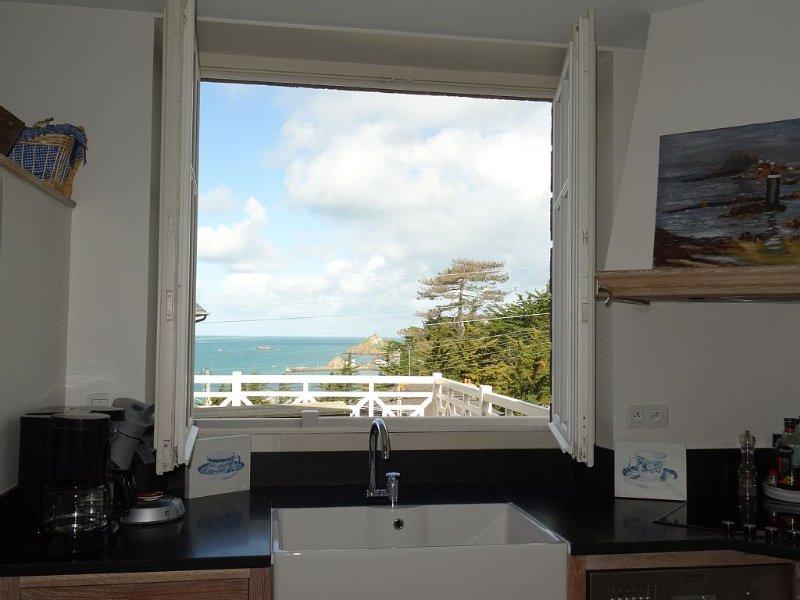 Maison de charme avec vue mer, aluguéis de temporada em Pleneuf-Val-Andre