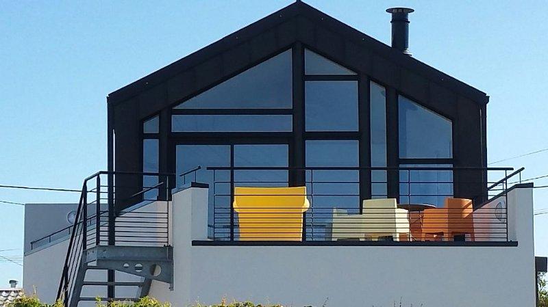Maison d'architecte construite en 2014,  à 50 m de la mer., alquiler de vacaciones en Finistere