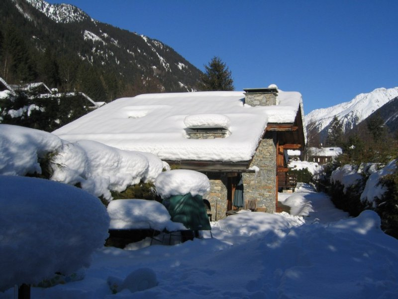 Chalet 8/9 pers. - Chamonix - Exceptional views of the Mont Blanc massif, holiday rental in Les Praz-de-Chamonix
