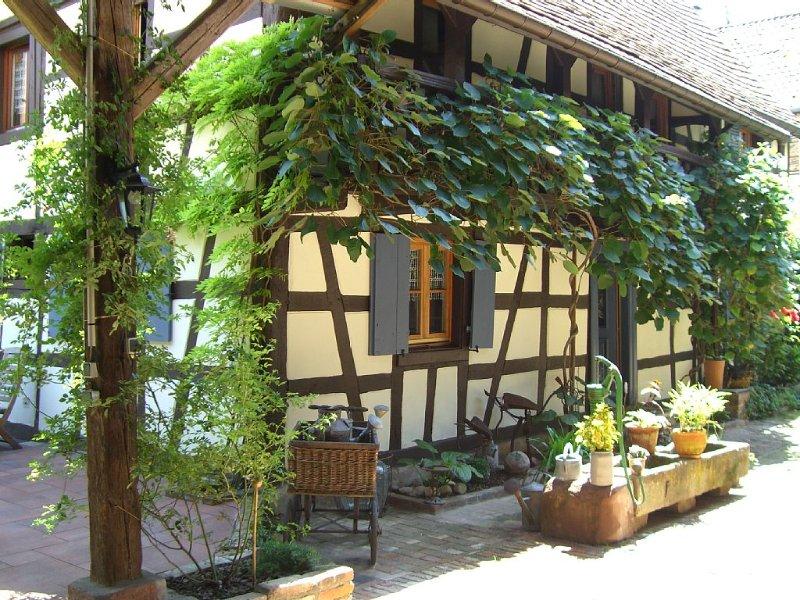 L'hospitalité de la gentille sorcière dans ses colombages et son jardin calme, location de vacances à Ohlungen