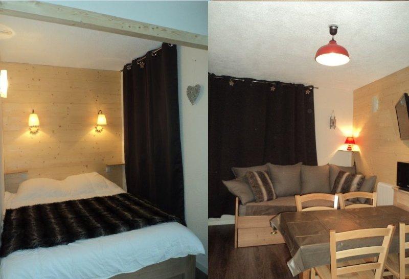 Renovated apartment for 4/5 people south in Val Thorens, aluguéis de temporada em Val Thorens