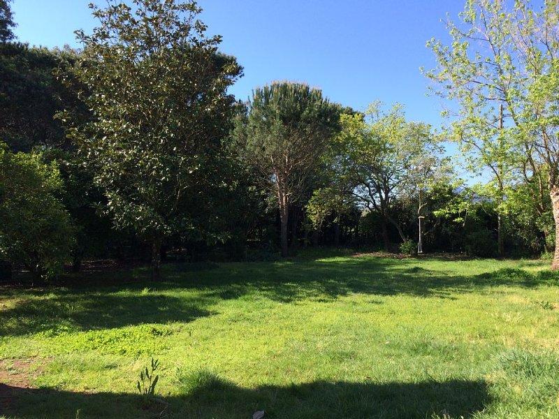 Appartement haut de villa, au calme, entouré d'un parc arboré sans vis a vis., location de vacances à Ventiseri