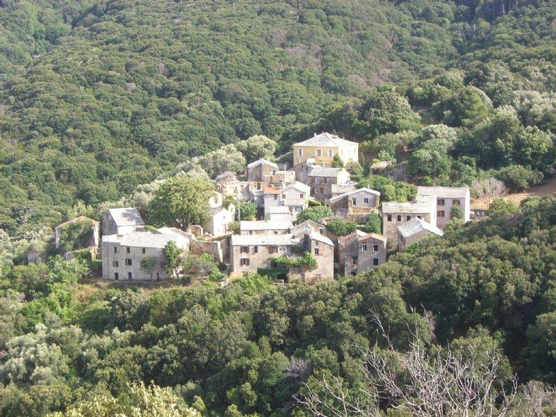 Maison de village, surplombant le maquis, vue sur la mer, 3 chambres, 6 couchage, holiday rental in Macinaggio