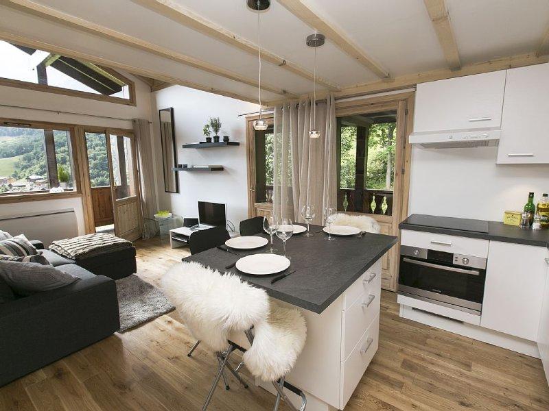 Vue exceptionnelle, skiez directement de l'appartement !, holiday rental in Les Houches