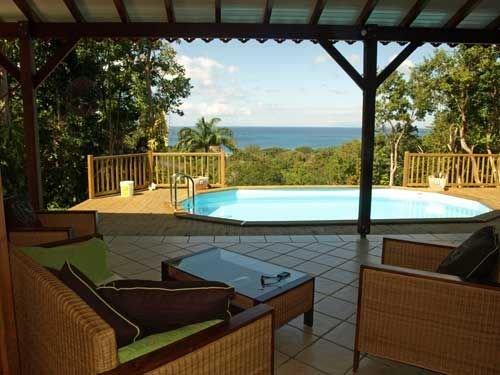 Villa Mahogany, location villa a Deshaies en Guadeloupe, holiday rental in Cafeiere
