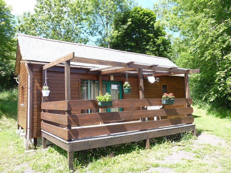 *Charmant* mobil-home habillé en chalet Cures Vac. été/hiver court/long séjour – semesterbostad i Puy-de-Dome