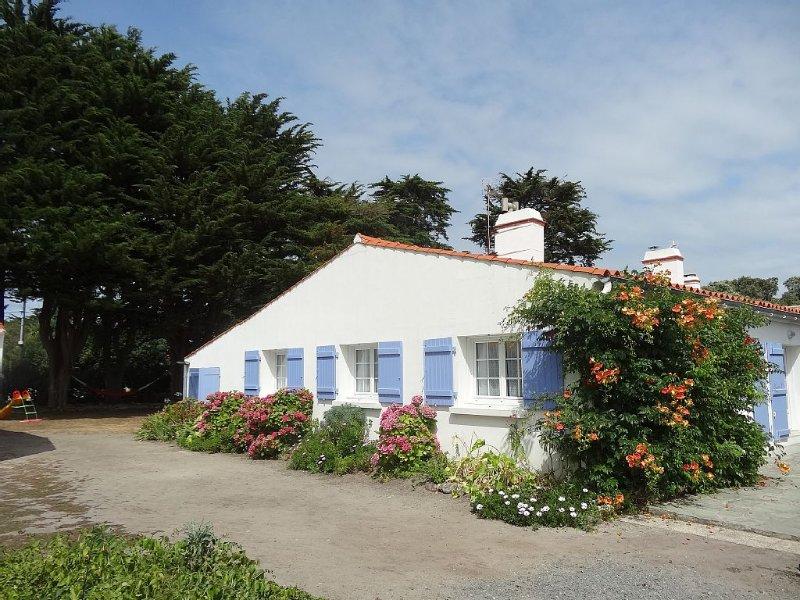 Agréable maison avec jardin proche du Bois de la Chaize Noirmoutier, alquiler de vacaciones en Noirmoutier en l'Ile