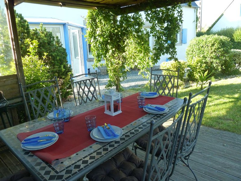 Longere bleue en bord de mer, holiday rental in Penmarch