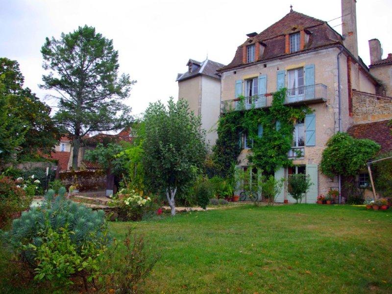 back facade and garden