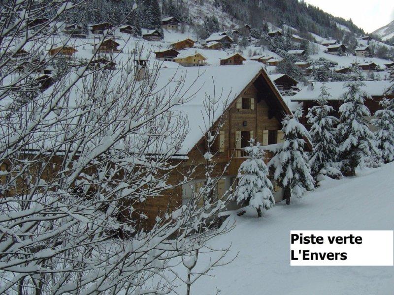 LA CLUSAZ appartement dans chalet au calme en été, sur piste en hiver, vacation rental in La Clusaz