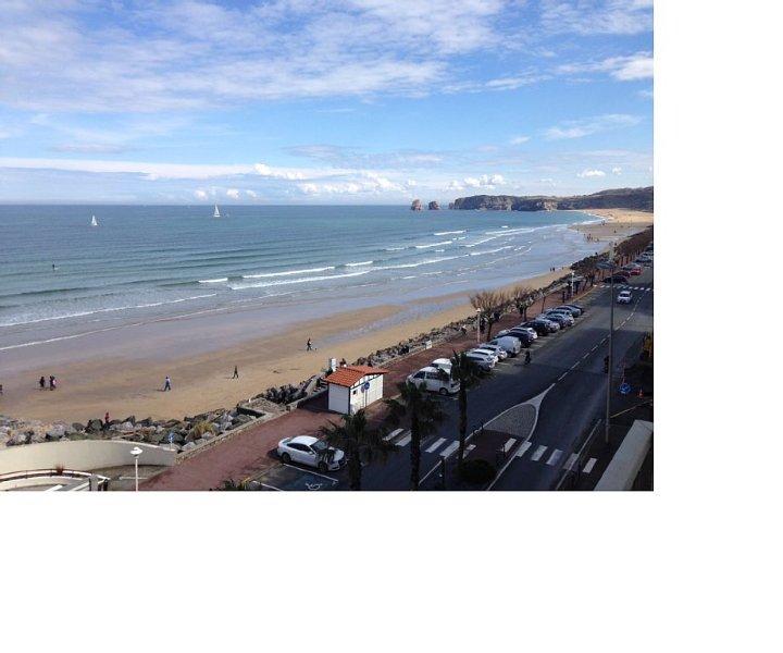 Appartement Hendaye Plage(64)-vue sur Ocean, holiday rental in Hendaye