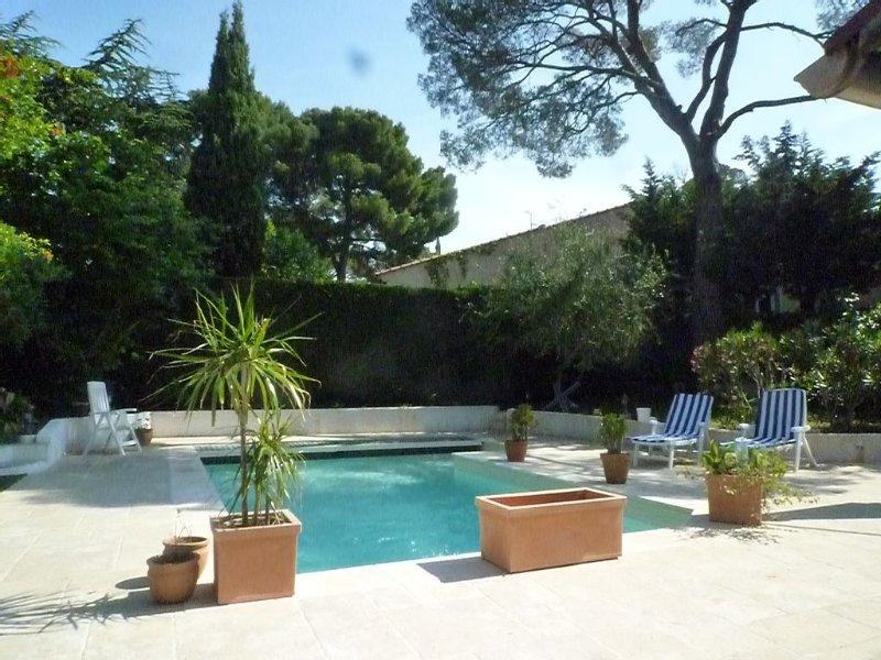 St Raphael Villa privée 800m Mer-T.Calme- Clim.Wifi- Pisc.Bbq.Jardin clos 6pers., alquiler de vacaciones en St-Raphaël