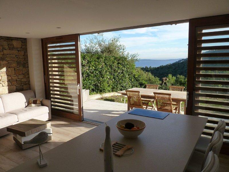 séjour, terrasse et vue