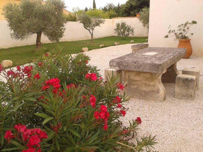 Gîte du Petit Mandon-Arles-Crau-Camargue: une maison pour 2/3 personnes avec spa, holiday rental in Bouches-du-Rhone