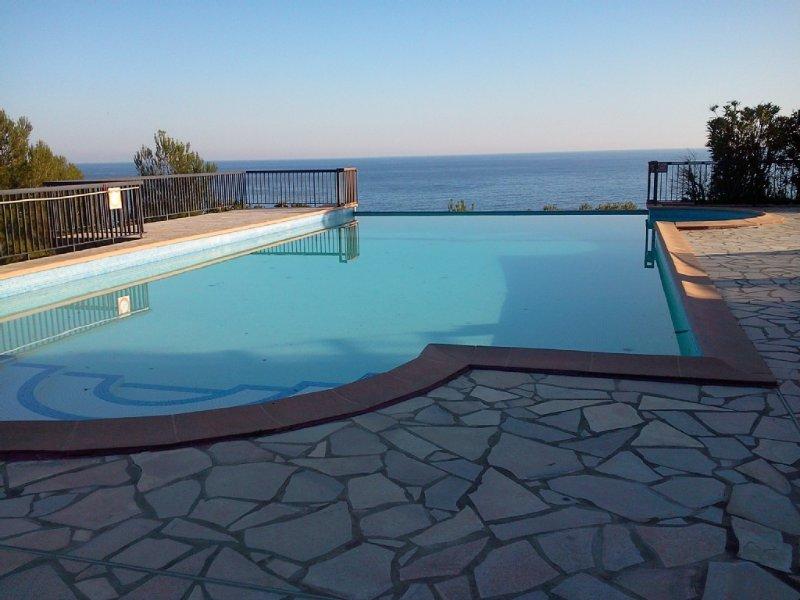 Appartement T3/T4,  piscine , plage , les pieds dans l'eau , verdure , au calme., alquiler vacacional en Le Lavandou