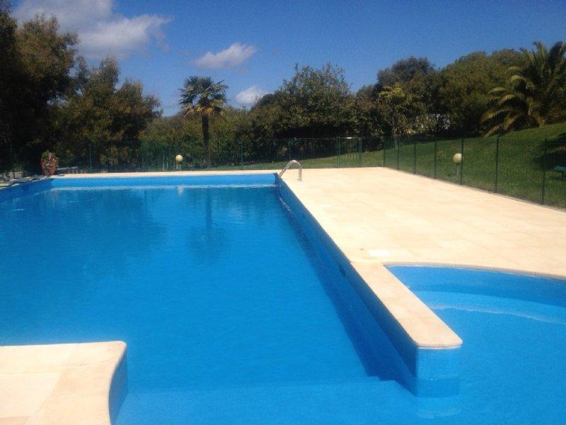2 pieces Rez de jardin vue mer dans residence de standing avec piscine, location de vacances à Cargese
