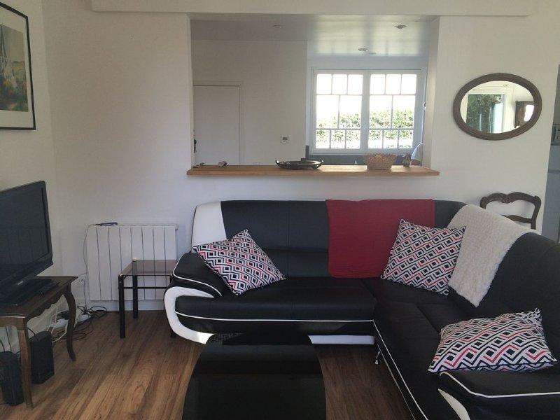 Le salon ouvert sur la cuisine