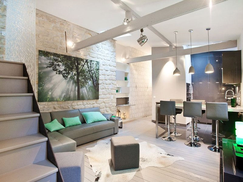 Like a house. Fantastic loft-style and quiet apartment ** ideal for family**, vacation rental in Paris