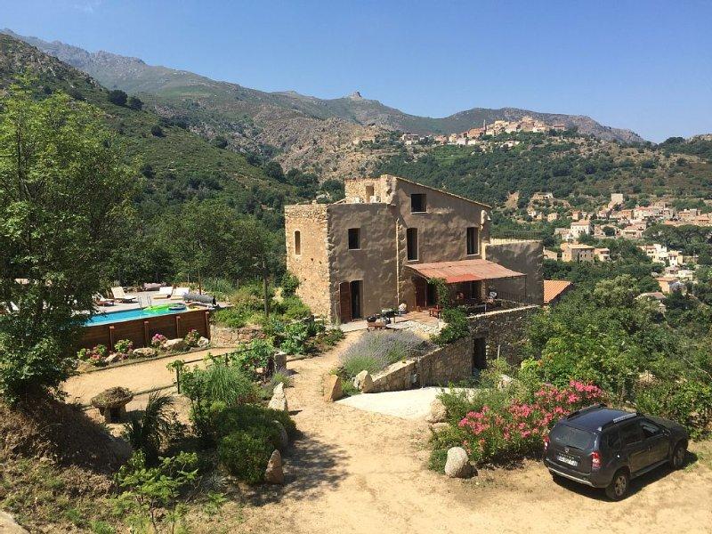 Maison du XVIII eme restaurée - 4 terrasses- Piscine Ville di Paraso Corse, location de vacances à Ville-di-Paraso