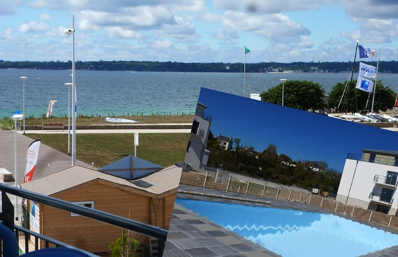 Luxury apartment 3 *** New, sea view, 2/3 Pers. heated pool. Wifi, Thalasso, vacation rental in Finistere