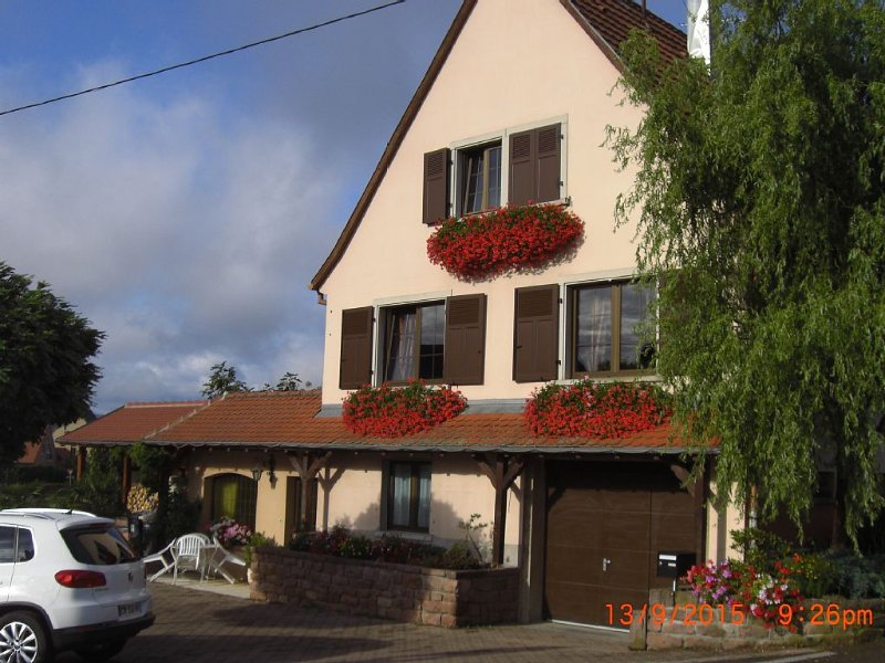 Appartement plein pied au coeur du vignoble Alsacien, holiday rental in Beblenheim