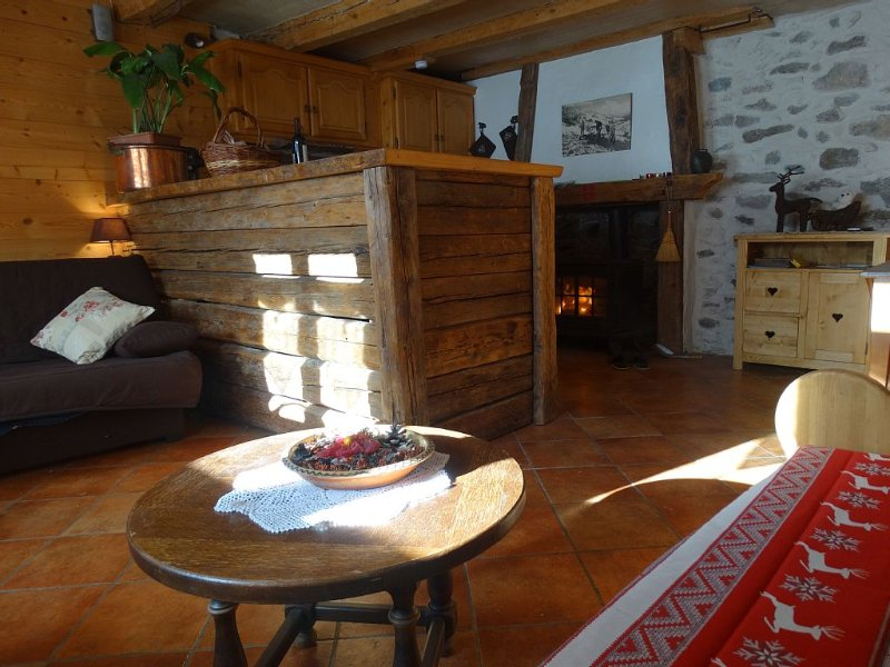 Studio skis aux pieds / parking, holiday rental in Beaufort