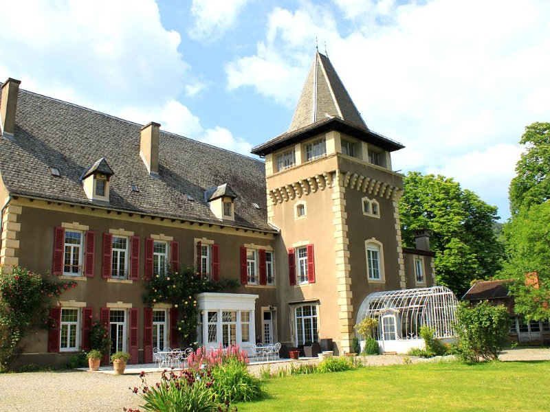Château Aveyron, 15 people, indoor heated pool, nice quiet park, holiday rental in Aveyron
