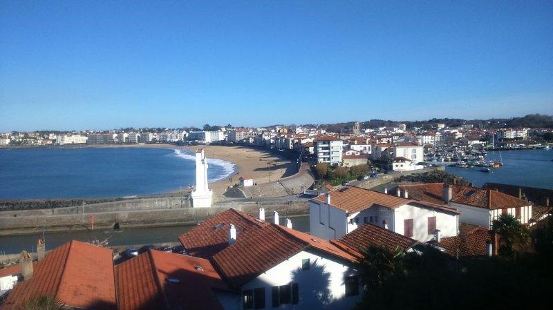 Appartement 60 m2 pour 4 personnes magnifique vue mer, location de vacances à Ciboure