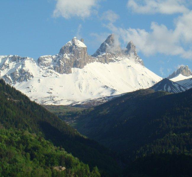 Uitzicht op het terras - MAssif des Aiguilles d'Arves