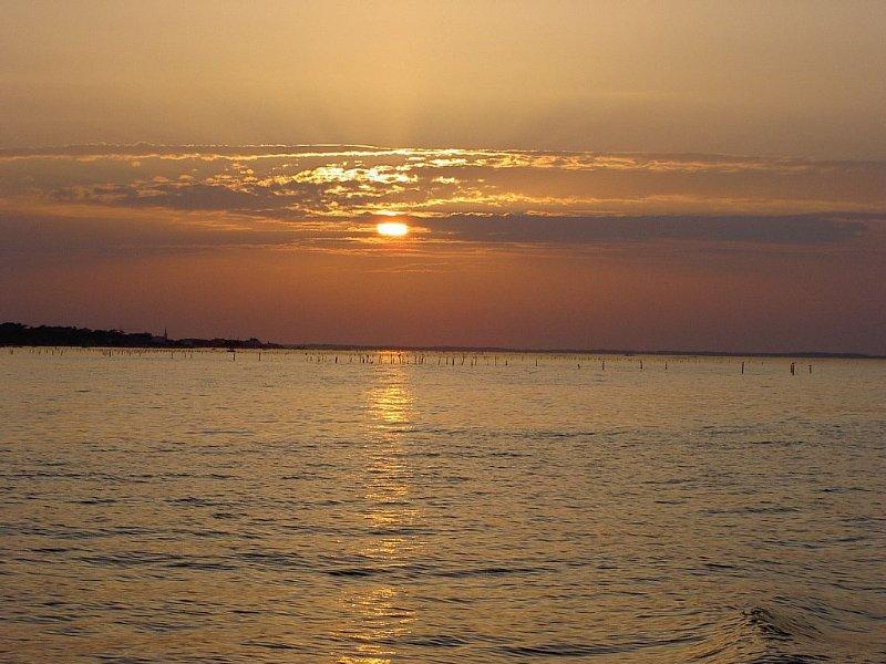 Coucher de soleil sur le bassin vu de Gujan