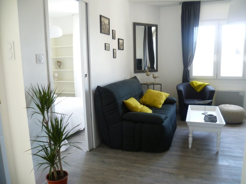 APPARTEMENT T2 150 m DE LA MER 2/4 pers CALME TOUT A PIED  ( WI-FI) VELOS, holiday rental in Concarneau