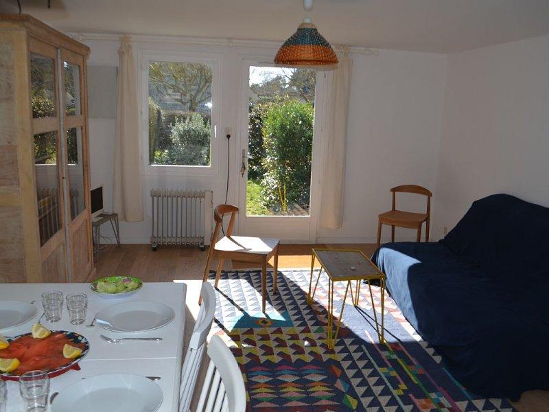 Maison 3 chambres jardin les pieds dans l'eau Golfe de morbihan, à larmor baden, alquiler de vacaciones en Larmor-Baden
