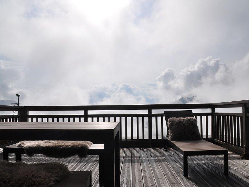 appartement montagne Doucy Domaine Valmorel 6/7 couchages pied des pistes, casa vacanza a Doucy