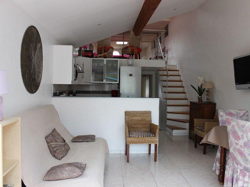 Maison climatisée avec jardin, tout confort, à 100 m de la plage , classée 3*, location de vacances à Hyères