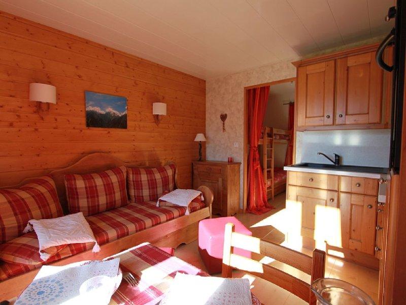 Appartement 4/5 personnes avec terrasse, 50 métres des pistes, alquiler vacacional en Les Deux-Alpes