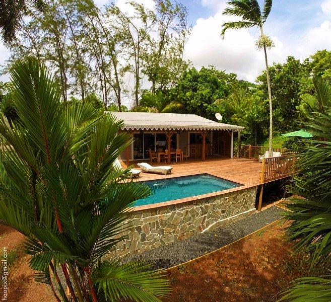 La Villa Wodyetia, du nom d'un des palmiers du jardin ..., aluguéis de temporada em Arrondissement of Le Marin