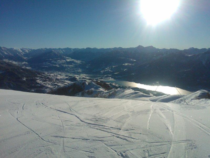 estación de esquí Réallon Vista al lago