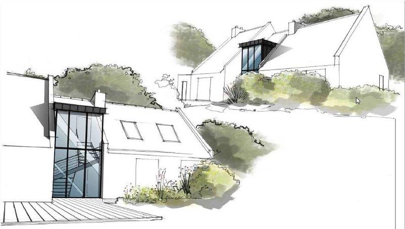 Villa d'architecte Arradon, 200 m2, bord de mer, résidence privée de Ker Jaffré, location de vacances à Arradon